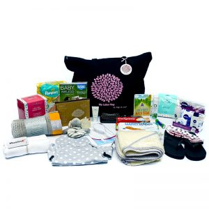 hospital bag, baby be mine maternity, pre-packed hospital bag, mama designs cellular blanket, naif, maternity bag