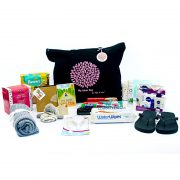 Pre packed hospital bag for newborn baby
